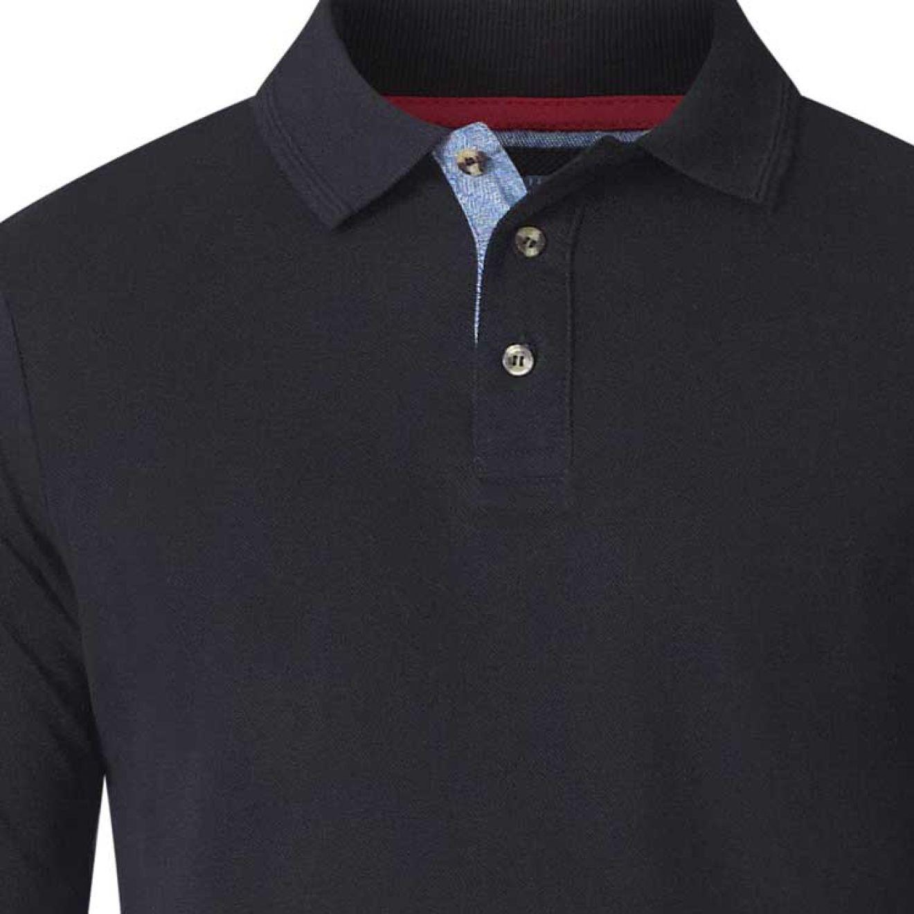 timeless design 502a3 e06fc DUKE Langarm Pique PoloShirt in Überlänge (extralange Ärmel), XXL Größe  LT-3XLT, 100% Baumwolle, in 4 Farben