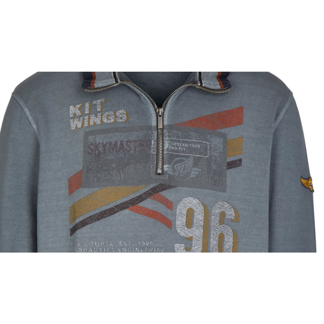 Kitaro Hoody Sweatshirt Shirt Kapuzenpullover Herren Langarm Grau Größe XL XXL