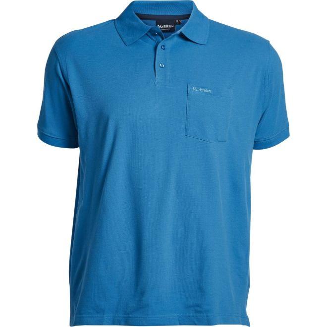6dc4027ac88c NORTH 56° by ALLSIZE extra-langes Pique Polo-Shirt mit Brusttasche   Logo