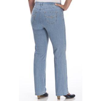 Damen Hose Jeanshose Übergröße Gerades Bein Braun 46 50 54